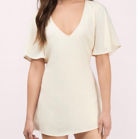 Tobi Dresses & Skirts - Tobi Lace Open Back Deep V Neck Mini Dress [NEW]